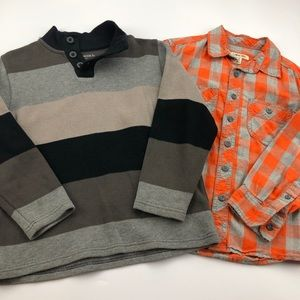 Gap Sweater & Orange Button Up